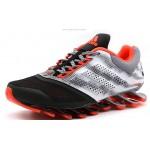 Tênis Adidas SpringBlade Drive 2.0 Masculino Preto Laranja e Cinza  Cod 0685