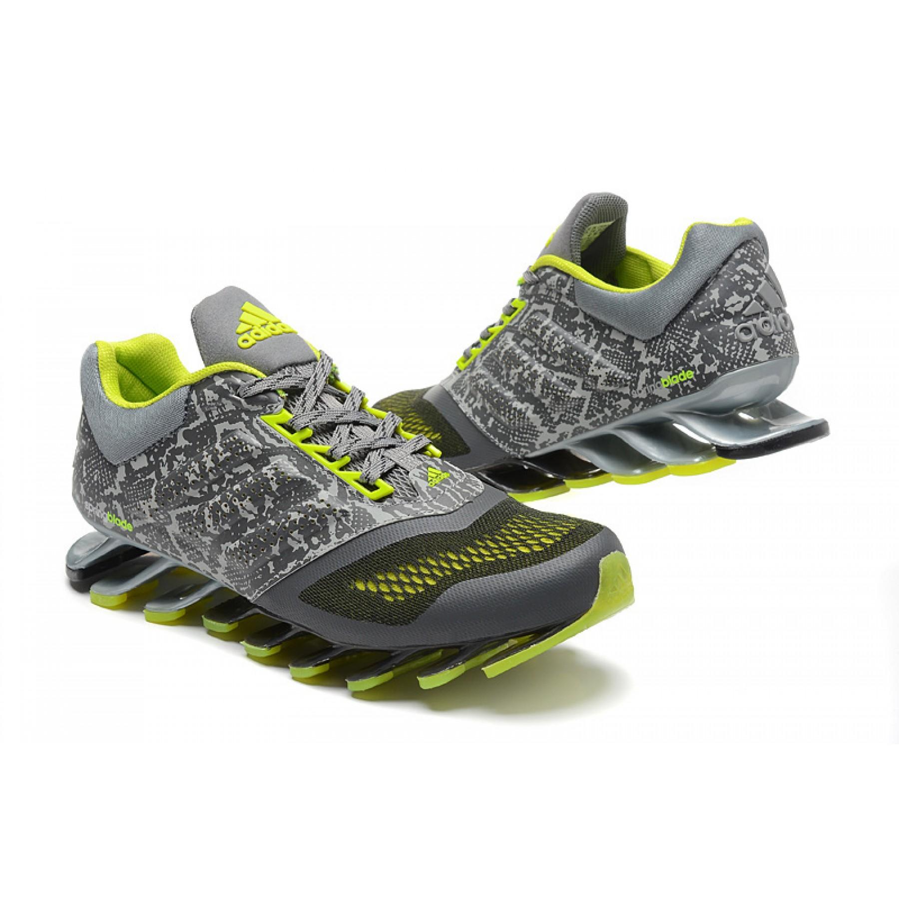Tênis Adidas SpringBlade Drive 2.0 Masculino Cinza Camuflado e Verde Cod  0550 52873555aa9ee