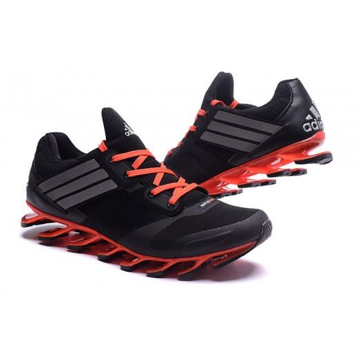 low priced 8080b d92a4 Tênis Adidas SpringBlade Drive 5 Masculino cor Preto e Laranja Cod 0695