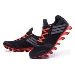 Tênis Adidas SpringBlade Drive 5 Masculino cor Preto e Laranja Cod 0695
