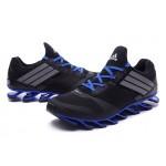 Tênis Adidas SpringBlade Drive 5 Masculino cor Preto e Azul Cod 0696
