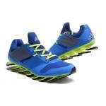 Tênis Adidas SpringBlade Drive 5 Masculino cor Azul Celeste e Verde Limão Cod 0698