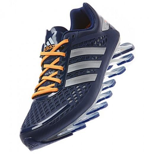 100% authentic 76032 c1a42 Tênis Adidas SpringBlade Razor Azul Escuro com Detalhes Laranja Cod 0339