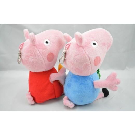 Brinquedo de Pelúcia Peppa Pig e George Pig 0405-EL