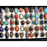Lote de 50 Anéis para Unissex com Pedra de Resina Cod 0333