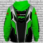 Jaqueta ou Blusa de Moletom com Capuz e com logotipo Kawasaki, Monster Energy Material Polyester 1344-EL
