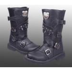 Bota de couro masculino para motoqueiro ou militar 0300-EL