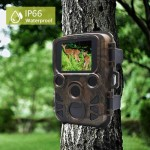 MODELO MINI 300. Mini câmera de caça 1080p 12mp visão noturna, câmera foto armadilhas animais selvagens ao ar livre, câmera com ir leds