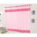 Cortina Rosa e Pink 2 metros para Varão Simples Diana