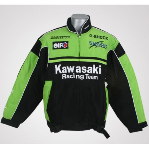 Jaqueta Preta e Verde Kawasaki Ninja Cod 0317