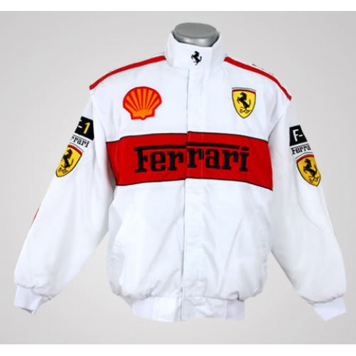 Jaqueta Branca e Vermelha Ferrari - Cod 0320