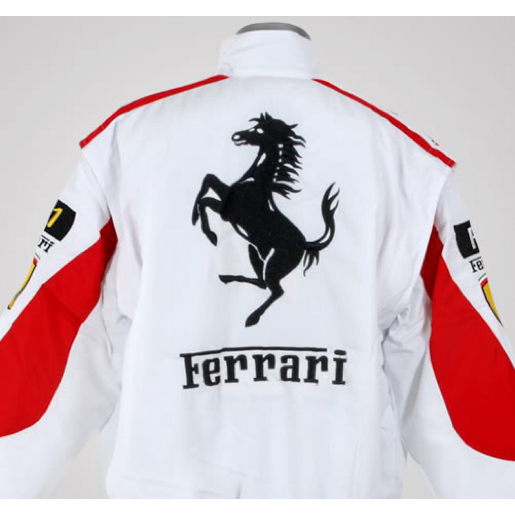 Jaqueta Branca e Vermelha Ferrari - Cod 0320 111ff2d44ff