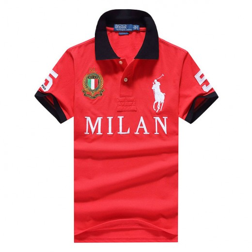 Camisa Polo Vermelho Milan Big Pony RL 1322EL