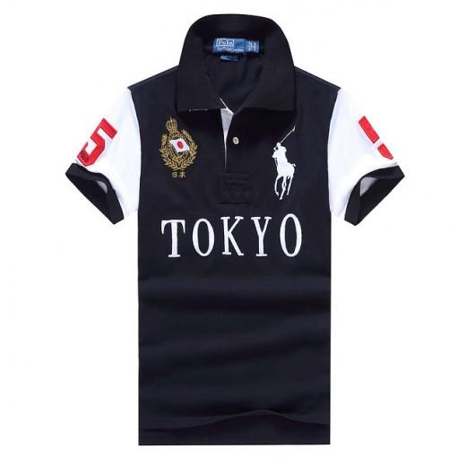 Camisa Polo Preto tokio Big Pony RL 1323EL