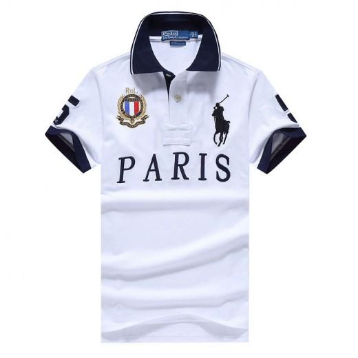 Camisa Polo Branco Paris Big Pony RL 1324EL