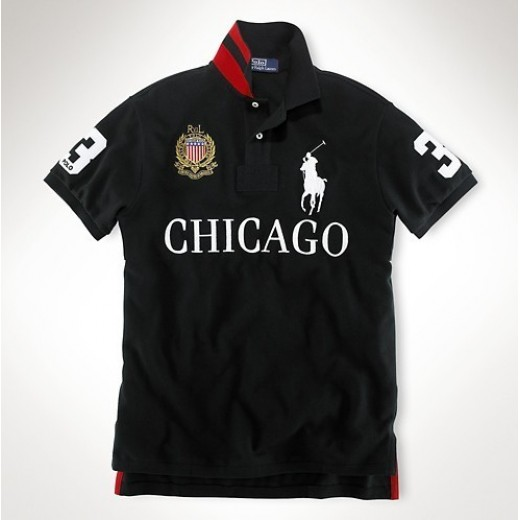 Camisa Polo Preta Chicago Big Pony RL 1325EL