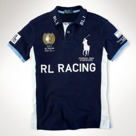 Camisa Polo cor Azul RL RACING Big Pony RL 1334EL