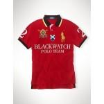 Camisa Polo cores Vermelho, Branco, Azul e Preto Black Watch Big Pony RL 1337EL