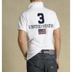 Camisa polo Ralph Lauren modelo Usa  cor branca Cod 0606
