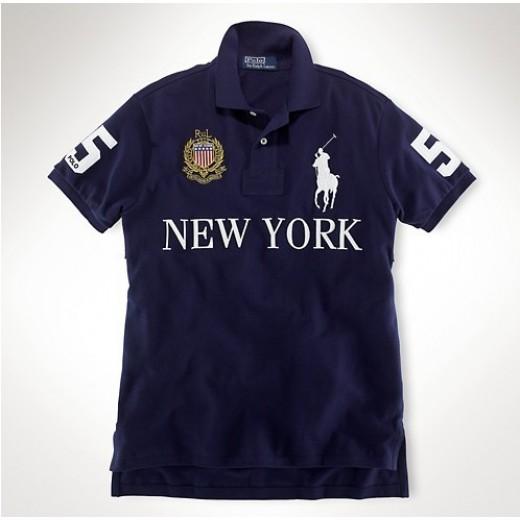 Camisa Polo Azul Escuro New York Big Pony RL 1318-EL