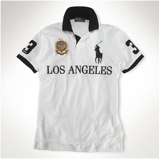 Camisa Polo Branca Los Angeles Big Pony RL 1317-EL