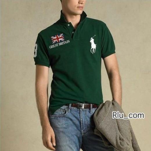 Camisa Polo Verde Great Britain Big Pony RL 1326EL