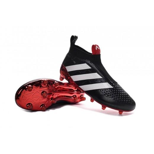 Adidas ACE 17+ Purecontrol FG cor Preto Vermelho Brancas