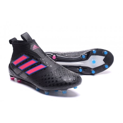 size 40 3d85a cfb57 Adidas ACE 17+ Purecontrol FG cor Preto com faixas Rosa