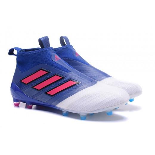 Adidas ACE 17+ Purecontrol FG Dragon cor Azul Limitado e Branco