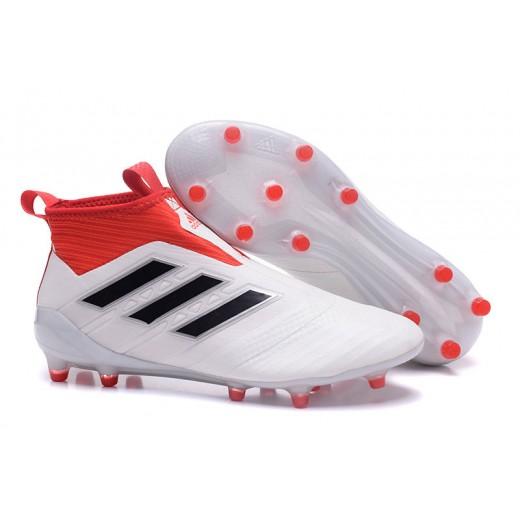 e4e6e230f1 Adidas ACE 17+ Purecontrol FG Dragon cor Branco e Vermelho