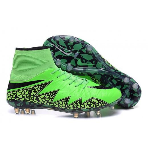 Chuteira Nike Hypervenom Phantom II FG cor verde e preto 1031 159e71c04309a