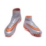 Chuteira Nike Hypervenom Phantom II FG  cor Zinza e Laranja 1032