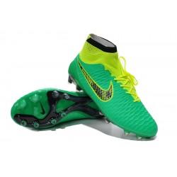 """Chuteira Nike Magista Obra FG with""""ACC"""" cor verde e amarelo 27d473918cad5"""
