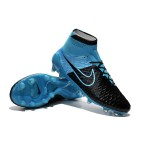 "Chuteira Nike Magista Obra FG with""ACC"" cor azul e preto"