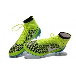 """Chuteira Nike Magista Obra FG with""""ACC"""" cor azul e verdlimão Cod 1024 3805eb766ba98"""