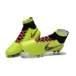 Chuteira Nike Magista Obra FG  cor amarelo esverdiado Cod 1025