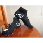 Chuteira Nike Mercurial Superfly IV CR7 FG Preto e Branco 1038