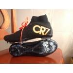 Chuteira Nike Mercurial Superfly IV CR7 FG  Preto e Laranja 1037