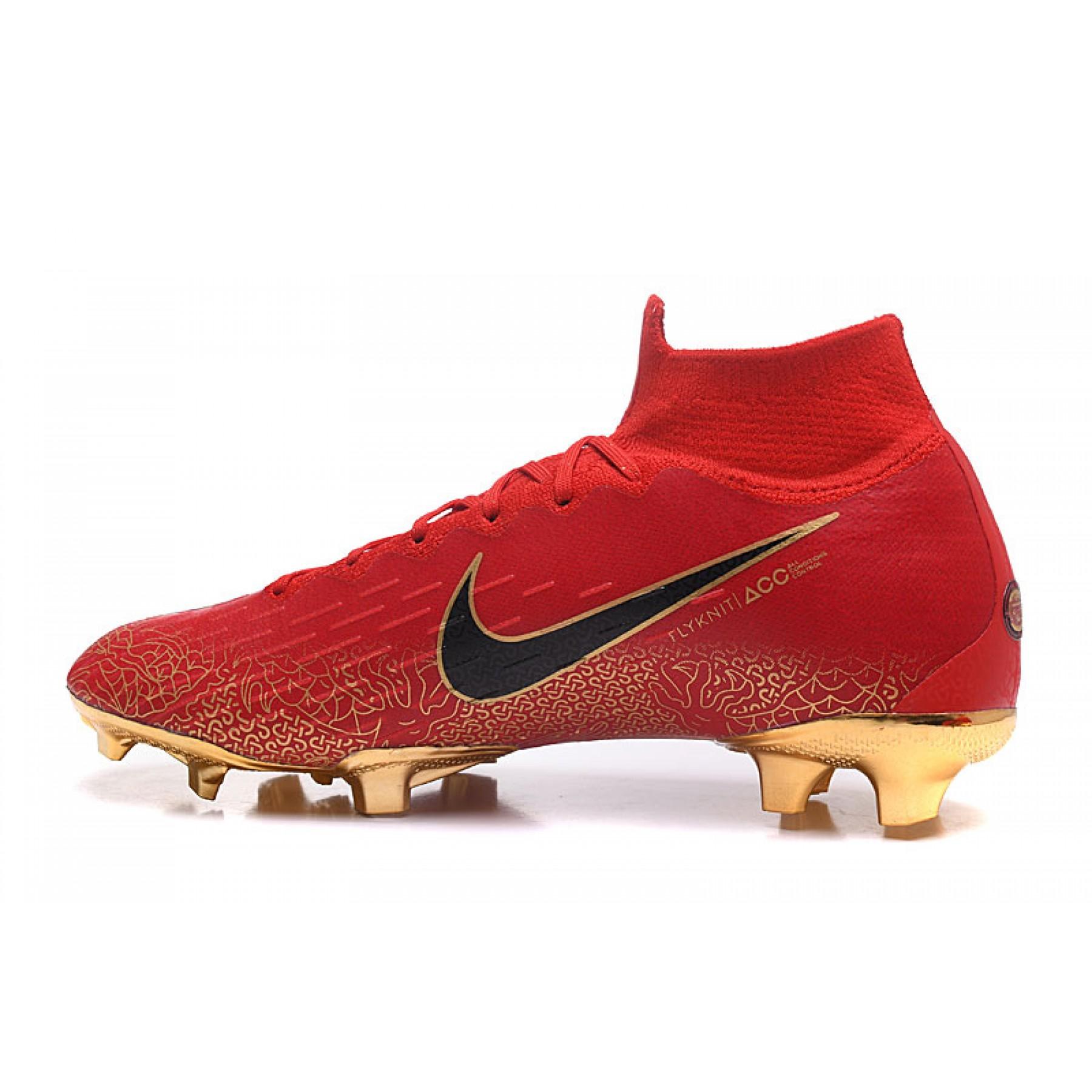 Chuteira Nike Mercurial Superfly IV FG ACC Vermelho e Azuk Violeta 1034 97c78e08015be