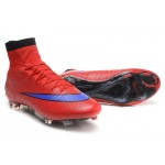 Chuteira Nike Mercurial Superfly IV FG ACC Vermelho e Azuk Violeta 1034 e54cc94a83910