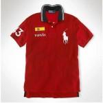 Camisa Polo Vermelha Espanha Big Pony Ralph Lauren - Cod 0022