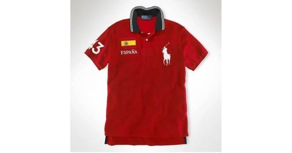 caf6bd89ed906 Camisa Polo Vermelha Espanha Big Pony Ralph Lauren - Cod 0022