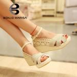 Sandália plataforma para mulheres 2 cores 0823