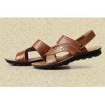 Sandálias de Sandálias couro genuíno, Masculinos com fundo macio 0786