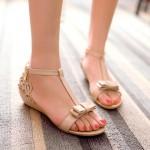 Sandálias mulheres com ornamentação 0835
