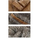 Jaqueta de Couro Pu Masculino a prova dgua com forro de lã de Carneiro Cod 0590