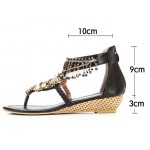 Sandália rasteira vintage Flip flop gladiador 0842