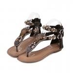 Sandália rasteira vintage Flip flop gladiador 0843