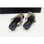 Sandália rasteira vintage Flip flop gladiadora com strass 0847