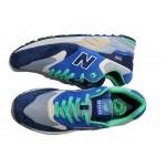 Tênis New Balance ML999 Elite Edition Modelo Masculino Cor Azul com Detalhes Verde
